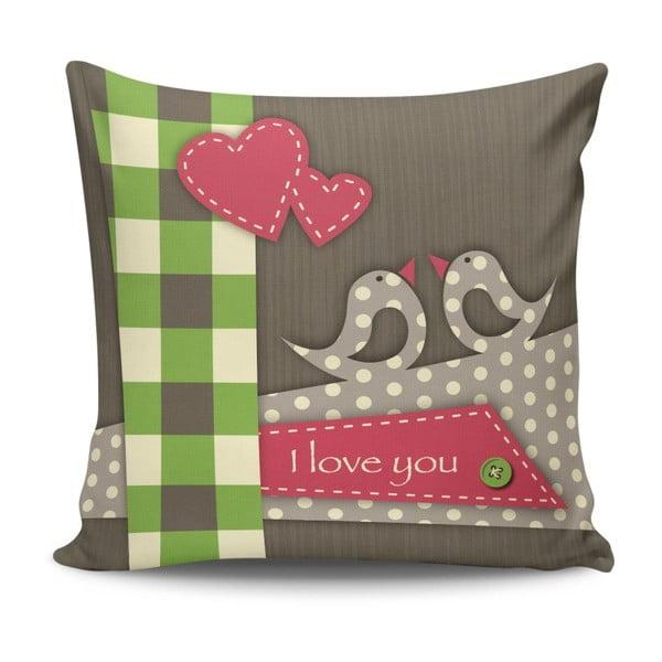 Pernă I Love You, 45 x 45 cm, cu umplutură