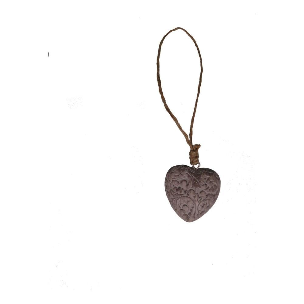 Závěsná dekorace ve tvaru srdce Antic Line Jerry