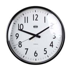 Černé nástěnné hodiny Strömshaga, Ø 40 cm
