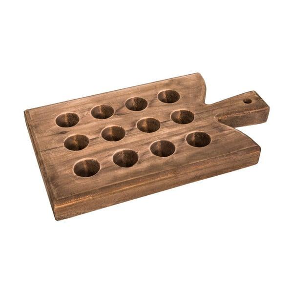 Drewniana deska/podkładka z drewna jodłowego na 12 jajek Antic Line