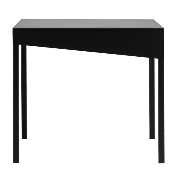 Obroos fekete tárolóasztal, 50 x 50 cm - Custom Form