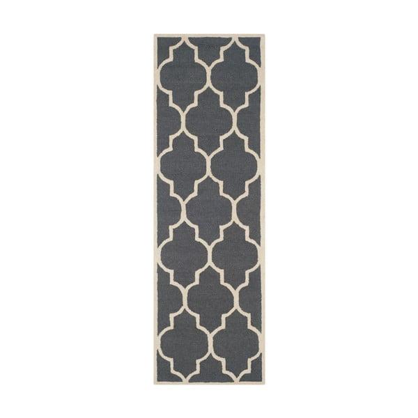 Everly sötétszürke gyapjú futószőnyeg, 76 x 243 cm - Safavieh