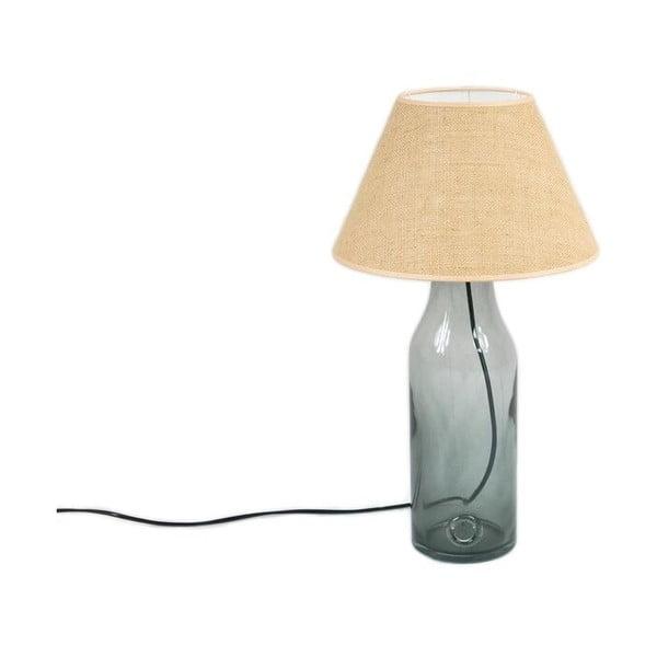 Stolní lampa Glass 50 cm, kouřově modrá