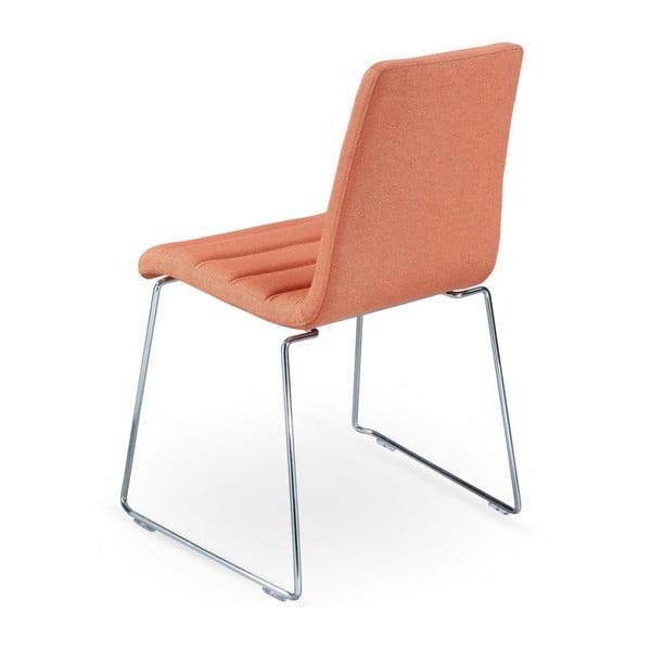 Sada 2 oranžových židlí Garageeight Ljungs