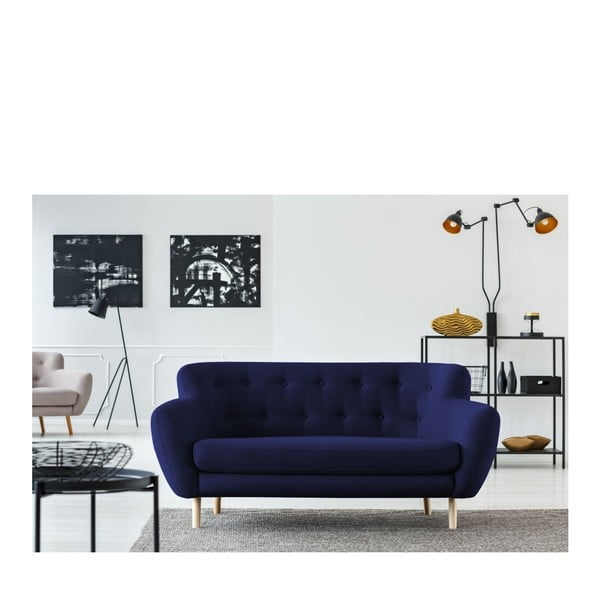 Tmavě modrá pohovka pro dva Cosmopolitan design London