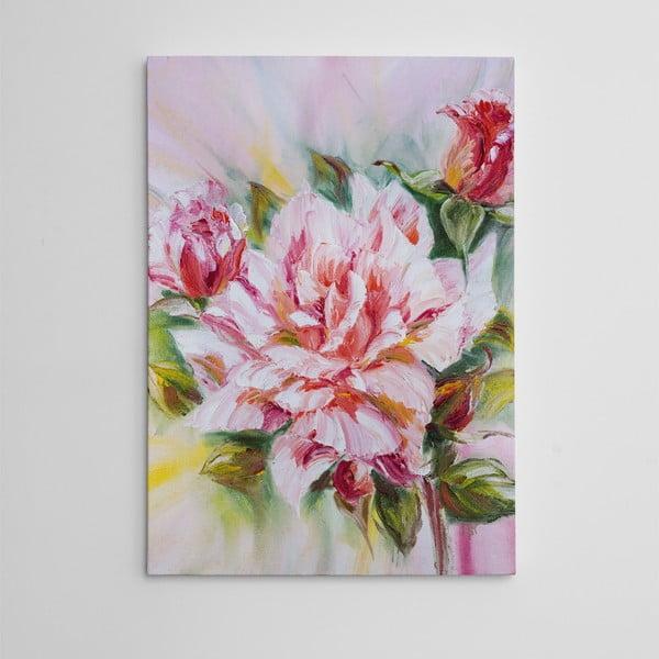 Obraz na plátně Růžový pugét, 50x70 cm
