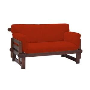 Canapea extensibilă cu 2 locuri 13Casa Karma, roșu
