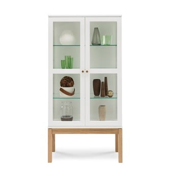 Bibliotecă/ vitrină Woodman AbbeyWood, alb