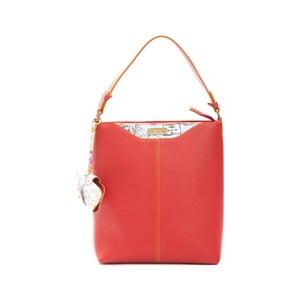 Červená kožená kabelka Alviero Martini Karima