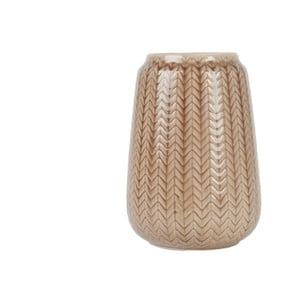 Střední hnědá váza Present Time Knitted