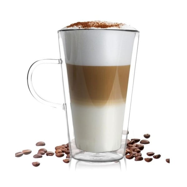 Dvojitý pohár Vialli Design Amo Latte, 320 ml