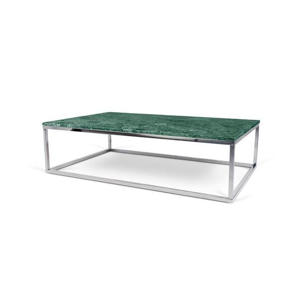 Zelený mramorový konferenční stolek TemaHome Prairie, 75 x 32 cm