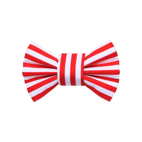 Červený charitativní psí motýlek s proužky Funky Dog Bow Ties, vel. S