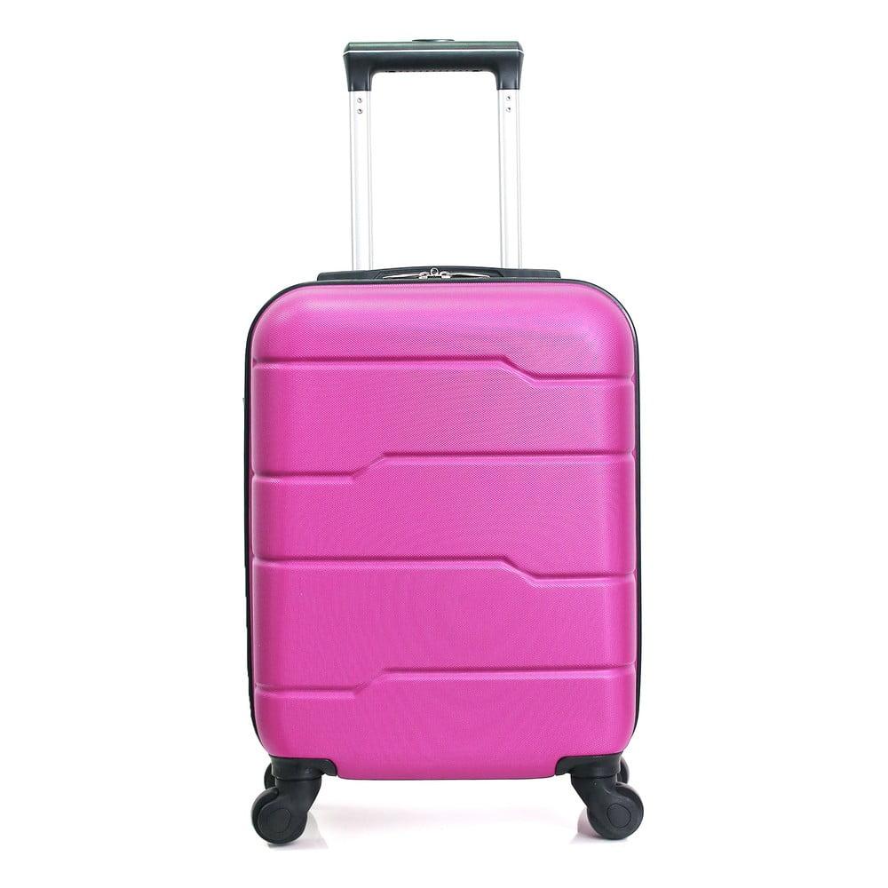 Růžový cestovní kufr na kolečkách Hero Santiago, 30 l