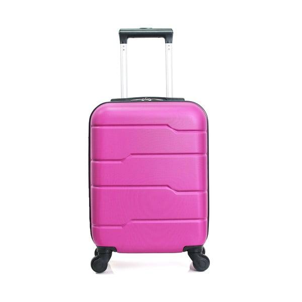 Ružový cestovný kufor na kolieskach Hero Santiago, 30l