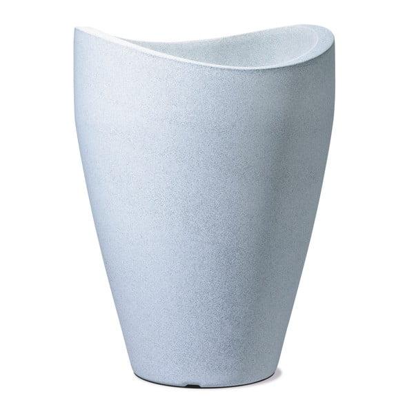 Venkovní květináč Granit 67x50 cm, bílý