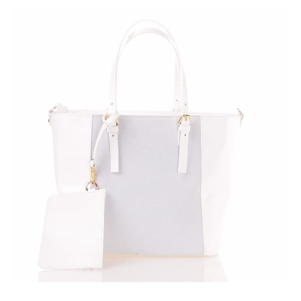 Kožená kabelka Luna, bílá