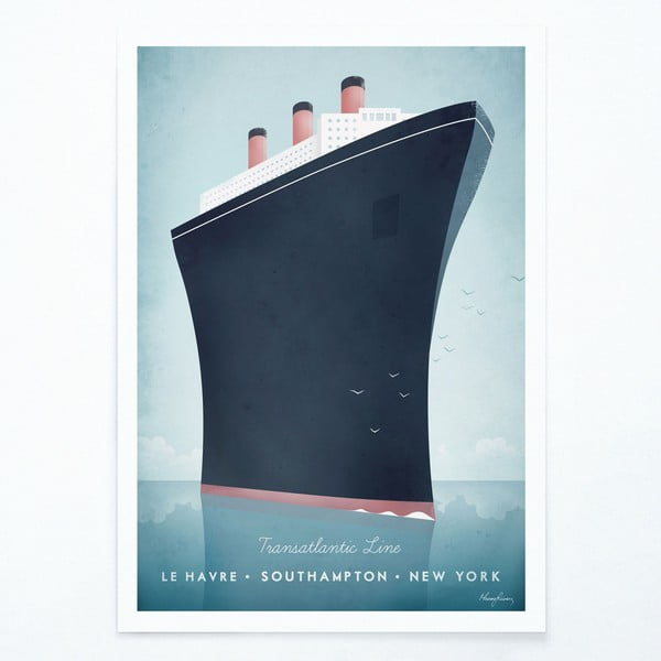 Plakát Travelposter Cruise Ship, A2