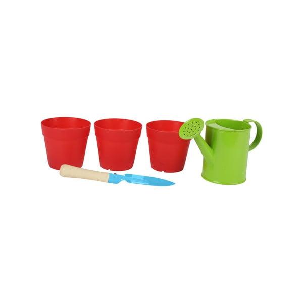 Detský záhradný set vedierka, lopatky a kanvičky Legler Plant