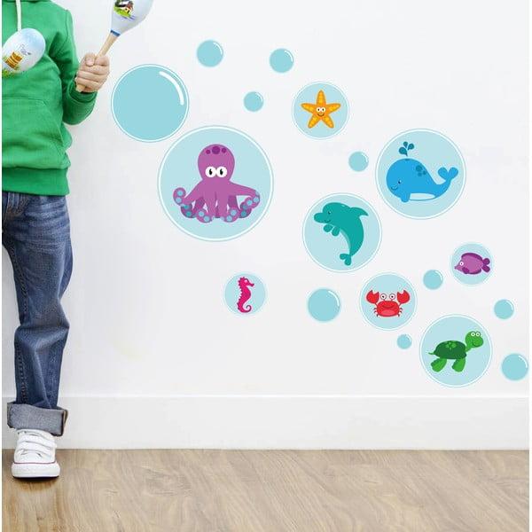 Dekorativní samolepka na zeď Bubble Sea