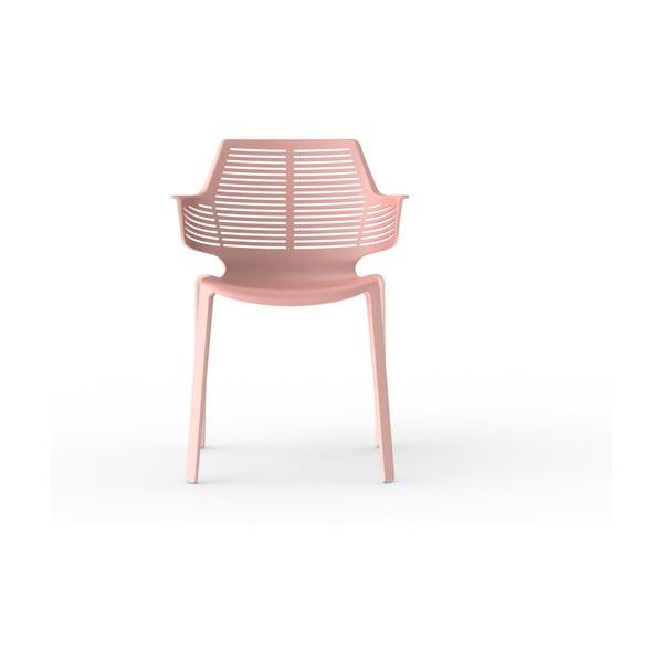 Sada 2 tehlovooranžových záhradných stoličiek Resol Ikona