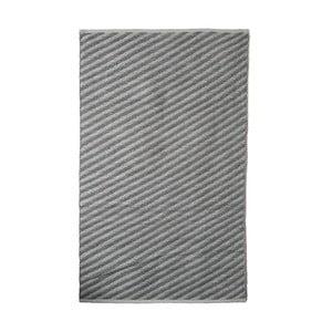 Šedý bavlněný ručně tkaný koberec Pipsa Diagonal, 140x200 cm