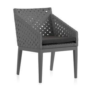 Sada 2 šedých zahradních židlí Geese Ribbon