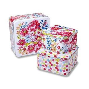 Sada 3 boxů Cooksmart England Floral Romance