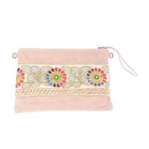 Béžovorůžová kožená kabelka Tina Panicucci Nero