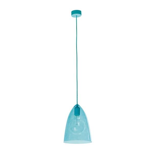Modré závěsné svítidlo SULION Glassy