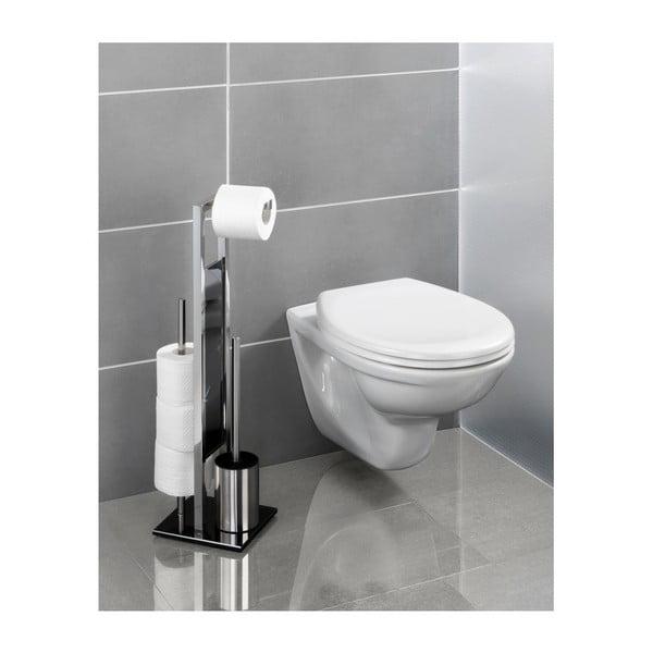 Toaletní kartáč sdržákem na toaletní papír Wenko Rivalta
