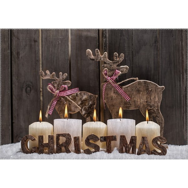 Covor Vitaus Christmas Period Candles With Sign, 50 x 80 cm