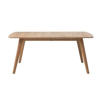Masă dining extensibilă din lemn de stejar Unique Furniture Rho, 90 x 150/190 cm poza