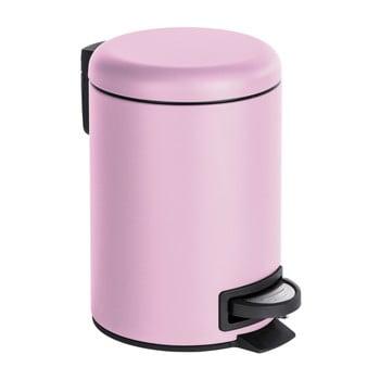 Coș de gunoi cu pedală Wenko Leman, 3 l, violet deschis de la Wenko