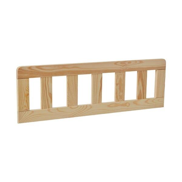 Sada 2 hnědých dřevěných zábran k dětské postýlce Pinio Classic, 200 x 90 cm