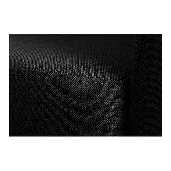 Canapea cu șezlong pe partea dreaptă Florenzzi Viotti, negru