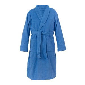 Modrý unisex župan z čisté bavlny Casa Di Bassi, M/L