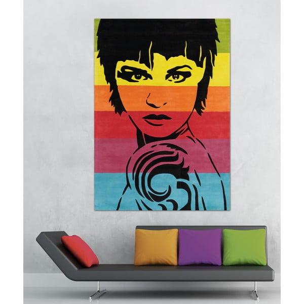 Ručně tkaný koberec Joy Face, 140x200 cm