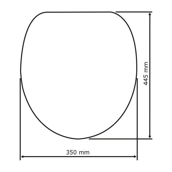 Khaki WC sedátko Wenko Bergamo, 44,4 x 37,3 cm