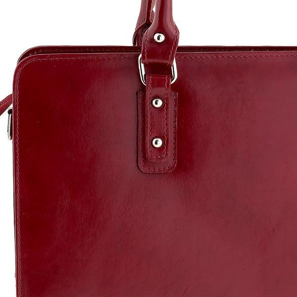 Červená kožená kabelka Ore Diece Taranto