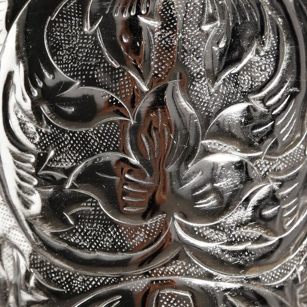 Váza ve stříbrné barvě Ixia Nikel, výška53cm