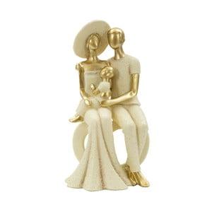 Dekorativní soška s detaily ve zlaté barvě Mauro Ferretti Cuore