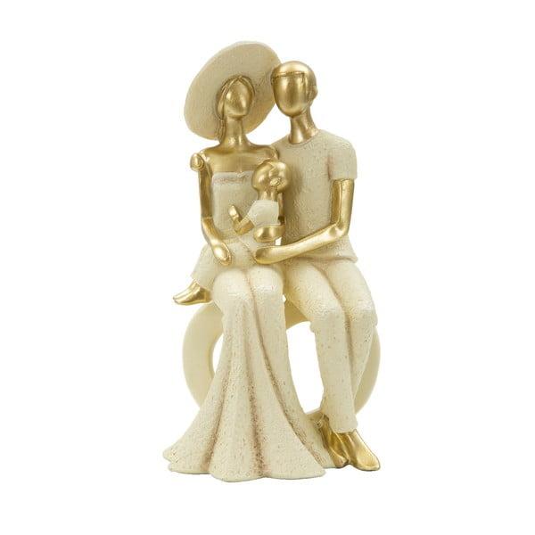 Dekoratívna soška s detailmi v zlatej farbe Mauro Ferretti Cuore