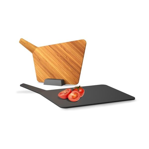 Prkénka se stojánkem Chopping Board Set, šedá