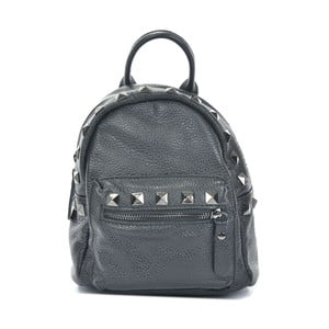 Černý kožený batoh Mangotti Bags Agnese
