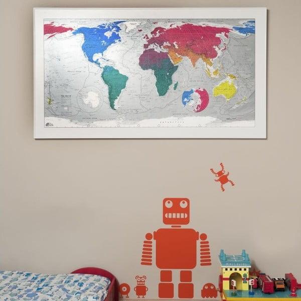 Mapa světa The Future Mapping Company Colourful World, 130x72cm