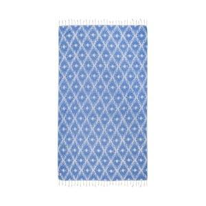 Prosop baie hammam Kate Louise Calypso, 165 x 100 cm, albastru