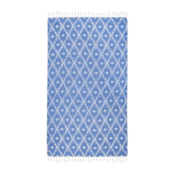 Modrá hammam osuška Kate Louise Calypso, 165×100cm