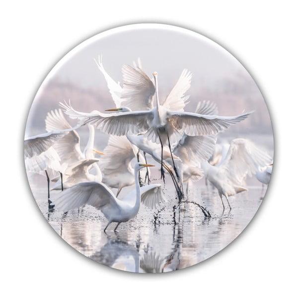 Nástěnná dekorace Styler Ring Herons, ø70cm