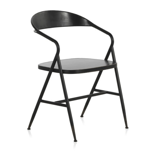 Czarny metalowy fotel Geese Industrial Style Puro